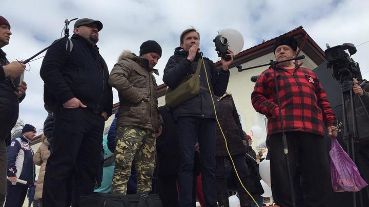 Свободу оппозиционеру Любимову: Митинг в Волоколамске всеми силами пытаются политизировать