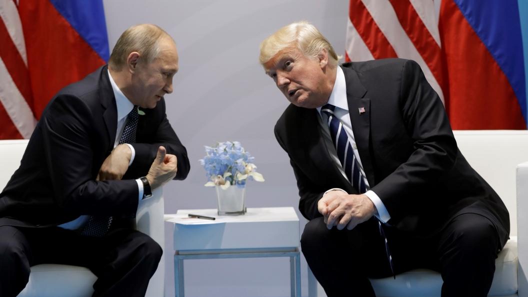 Появились говорящие фото первой встречи Путина и Трампа