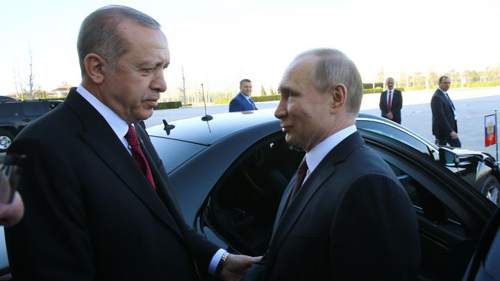 Эрдоган передал свои опасения по Палестине Путину