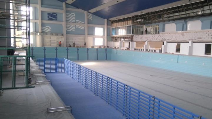В сети появились фотографии реконструкции бассейна «Лазурный» в Кемерове