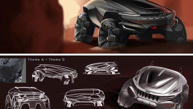 Джип будущего: В Сети появились эскизы нового внедорожника Jeep 2035