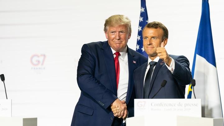 Это было бы здорово: Трампу и Макрону понравилась идея дружить с Россией
