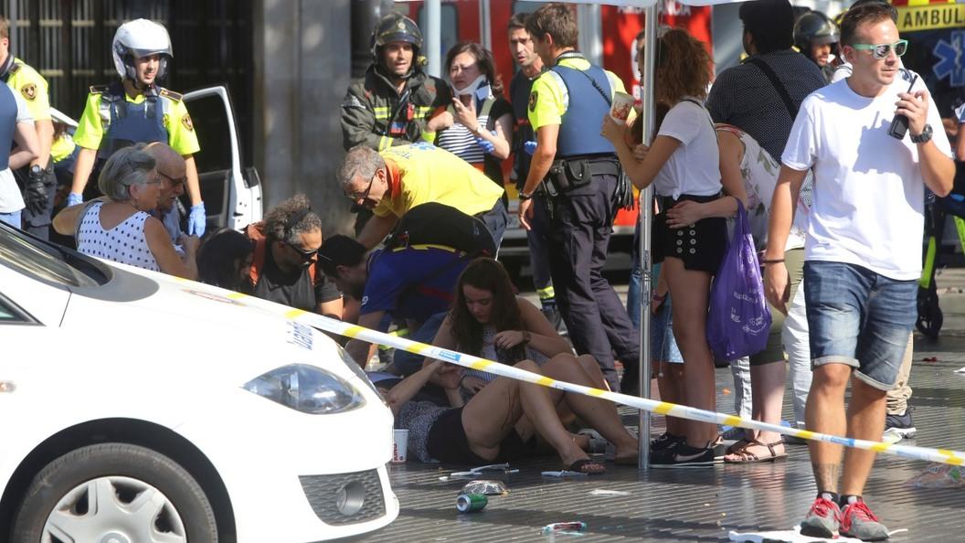 После теракта в Барселоне госпитализировали 56 человек