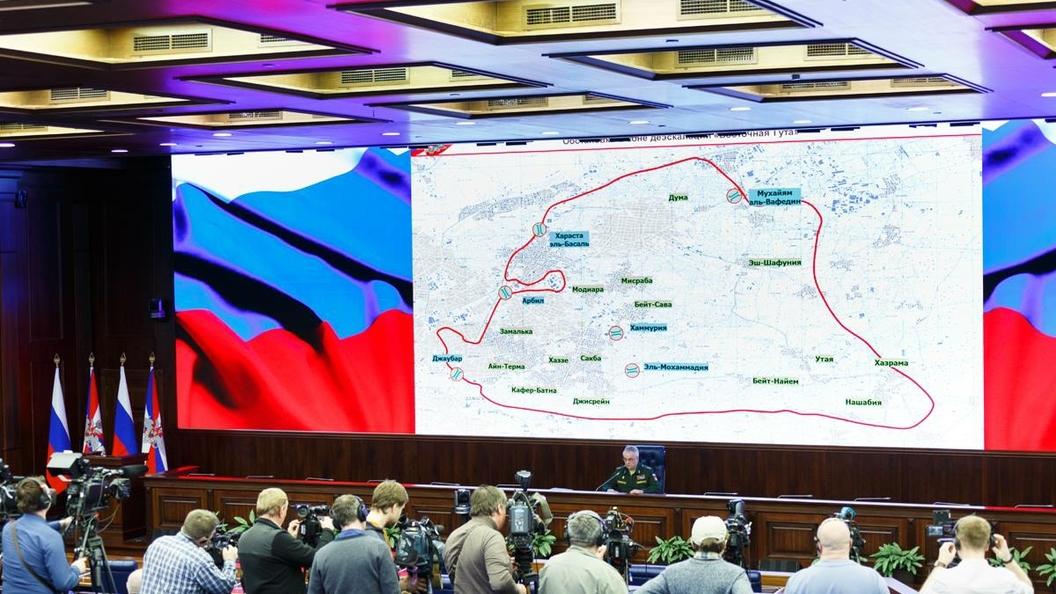 Русские  военные отыскали  вДуме подтверждение  изготовления боевиками химоружия