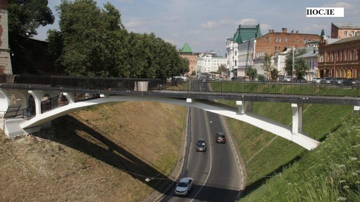 Мост над Зеленским съездом восстановили в Нижнем Новгороде
