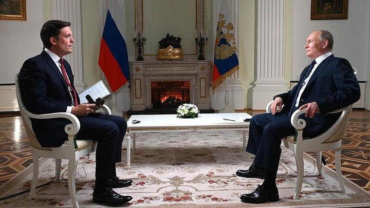Вы затыкаете мне рот: Путин осадил журналиста NBC