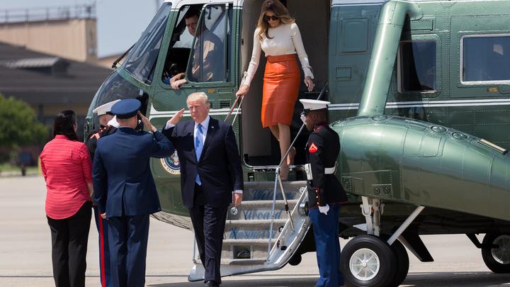 СМИ рассказали, как вертолет Трампа потерял пропеллер