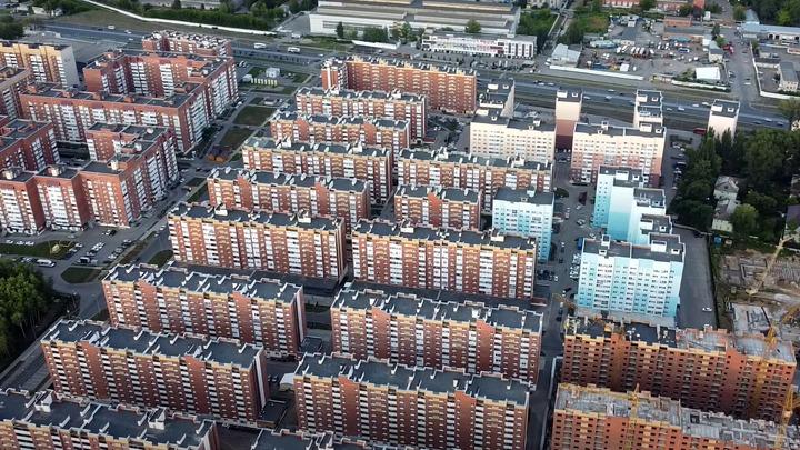 Новая Самара - настоящее кирпично-бетонное гетто: взгляд с высоты