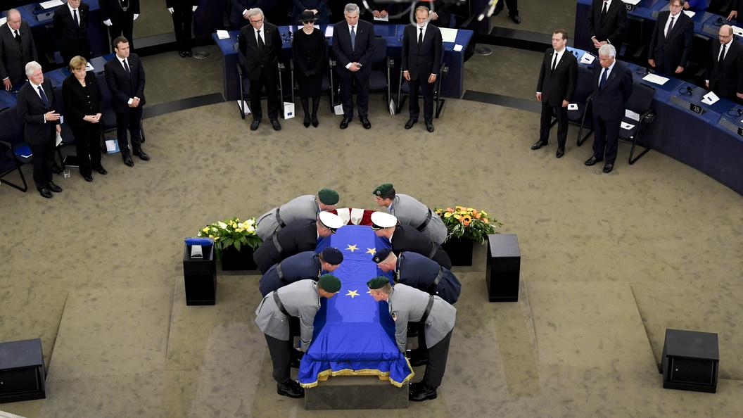 В Страсбурге прошла церемония прощания с экс-канцлером ФРГ Гельмутом Колем
