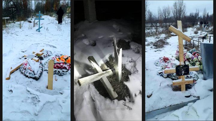 В Киргизии вандалы разгромили русское кладбище