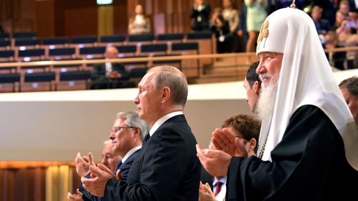 Путин призвал к соработничеству власти и Церкви в приветствии Всемирному Русскому Народному Собору