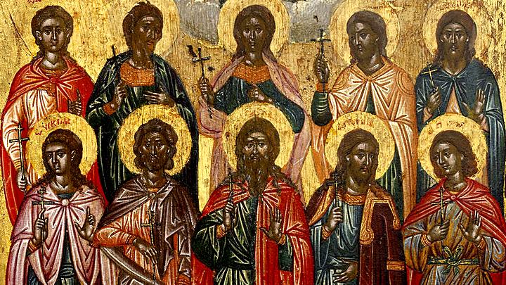 Мужественные страдальцы. Десять мучеников Критских. Церковный календарь на 5 января