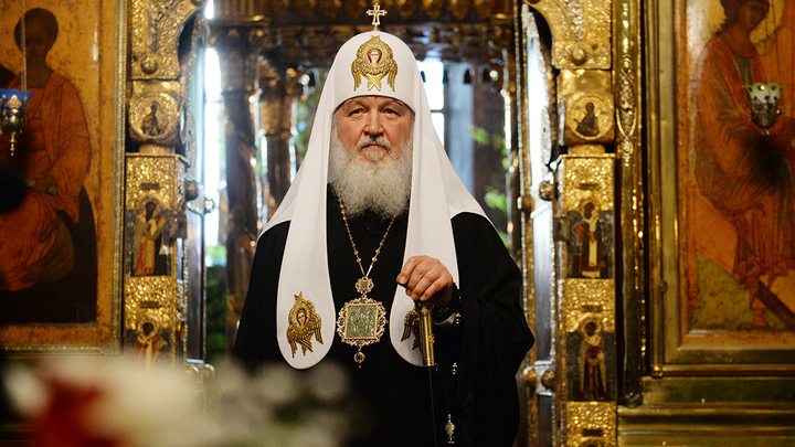 Патриарх Кирилл возглавил богослужение в Троице-Сергиевой лавре в праздник Троицы