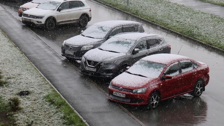 Новосибирцы делятся фотографиями первого снега в соцсетях