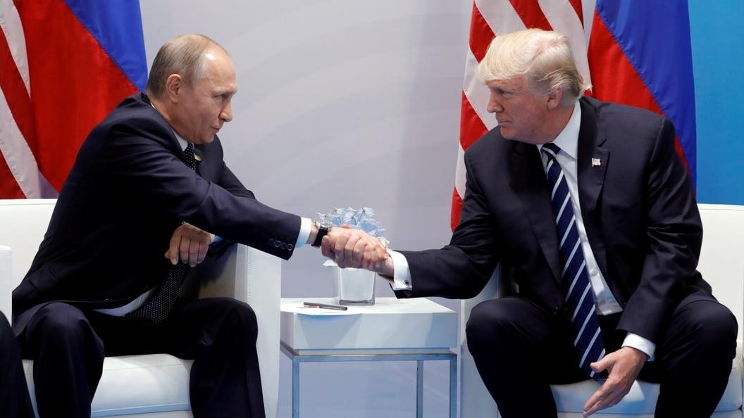 Владимир Путин иДональд Трамп отказались отвечать навопросы репортеров