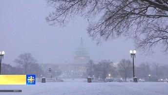Снежный апокалипсис обрушился на Вашингтон