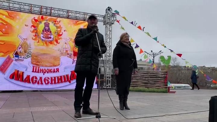 Сапожников поздравил читинцев с Масленицей и попросил у них прощения