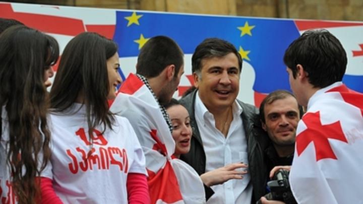 В центре Тбилиси собирается майдан в поддержку Михаила Саакашвили
