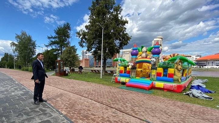 Переедем к резиденции губернатора: хозяин батутов в Екатеринбурге дерзко ответил Куйвашеву