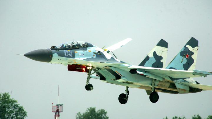 Российский Су-27 «поддержал» украинские учения «Казацкая воля - 2018» - видео