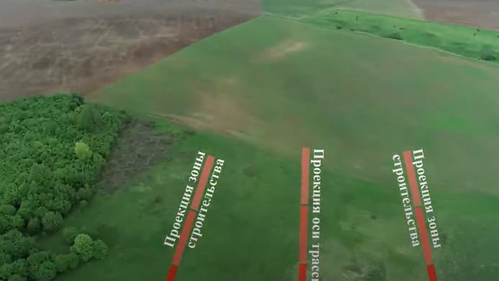 Строительные работы на трассе М-12 в Нижегородской области показали с высоты птичьего полёта