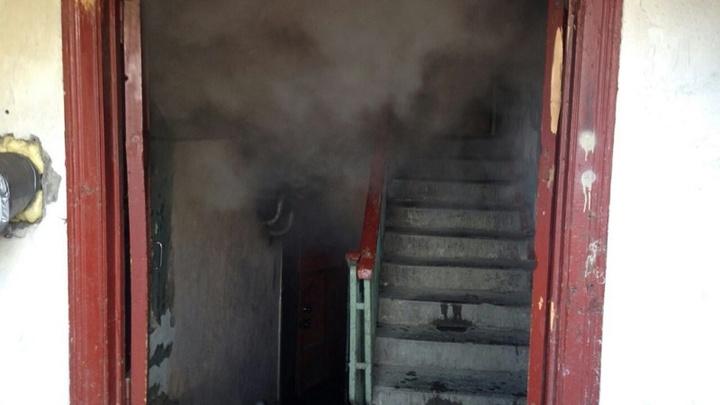 В Приволжске Ивановской области горел многоквартирный дом