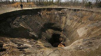 В районе брянского поселка Вышков ожидаются новые провалы земли