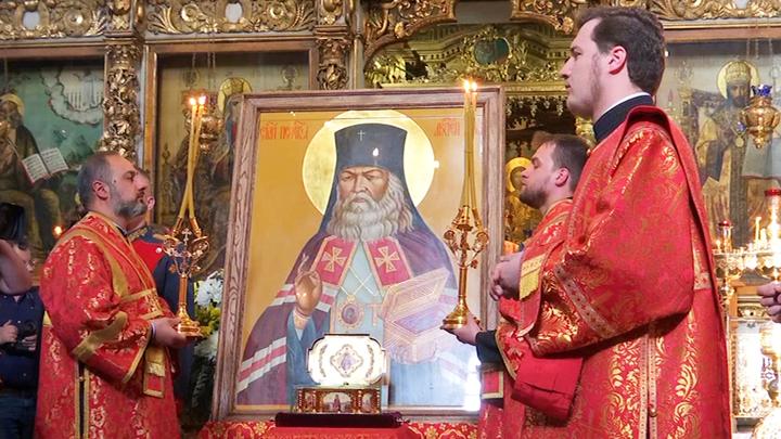 Встреча великой святыни: В Москву принесены мощи Святителя Луки Крымского