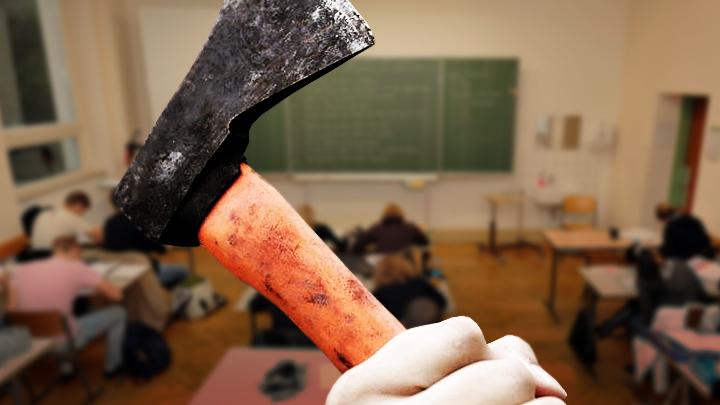 Нападение на школу: Кто остановит подростка с топором?