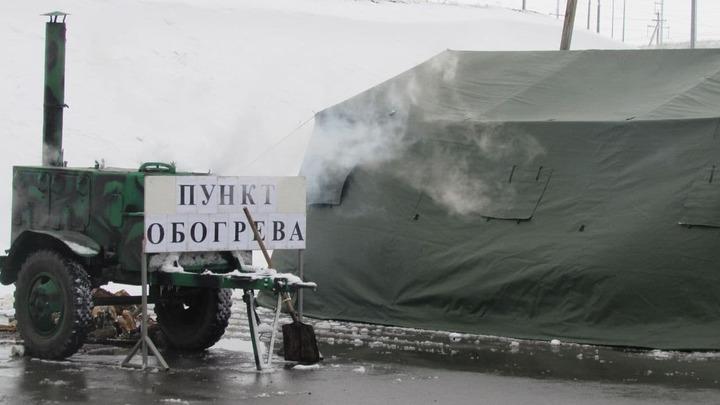 Под Новороссийском МЧС готовится разворачивать пункты обогрева
