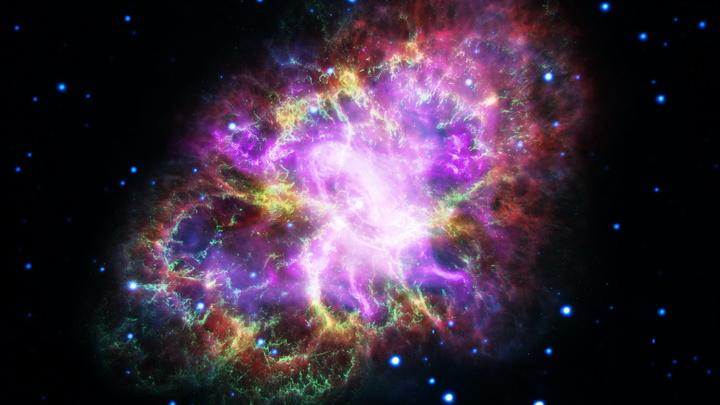 Астрономы впервые увидели столкновение сверхновой и обычной звезд