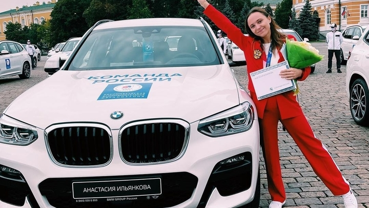 Гимнастка из Кузбасса  получила BMW за серебряную медаль на Олимпиаде