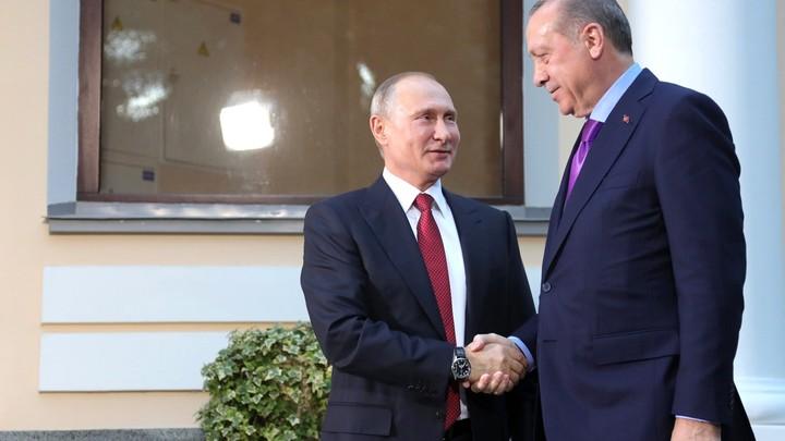 Президент Турции Эрдоган по-русски поблагодарил Путина - видео