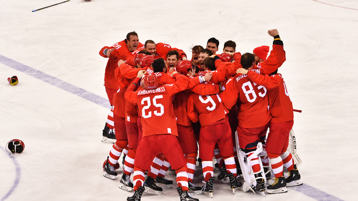 МОК оправдал пение гимна России, исполненного русскими хоккеистами на ОИ