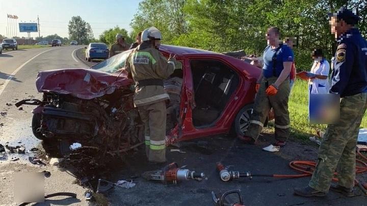 В Самарской области в ДТП погибло три человека: столкнулось два автомобиля