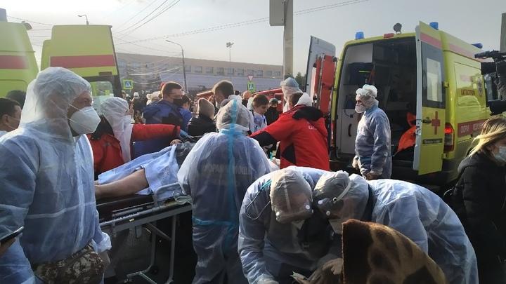 Как эвакуируют пациентов из больницы в Челябинске, где прогремел взрыв
