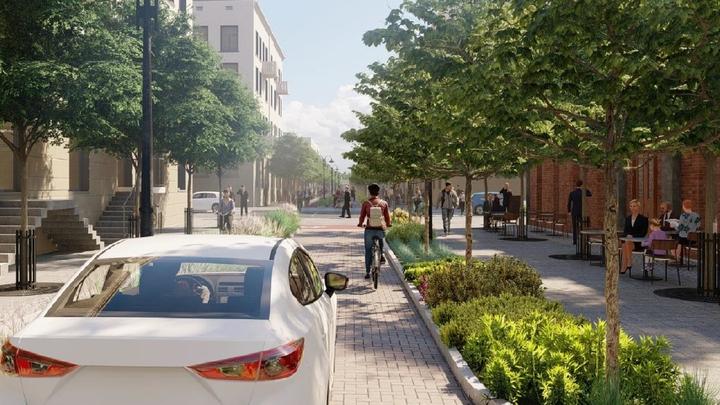 В Краснодаре представили два варианта эскизного проекта пешеходной зоны по улице Чапаева