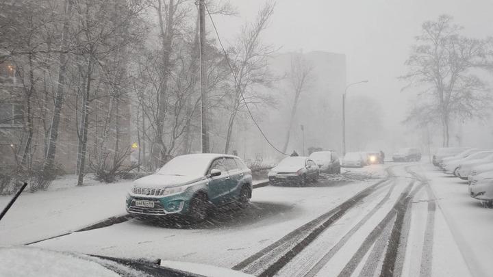 Снежная буря парализовала Санкт-Петербург - центр города встал из-за массовых ДТП и пробок