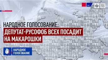 Народное голосование: Депутат-русофоб всех посадит на макарошки