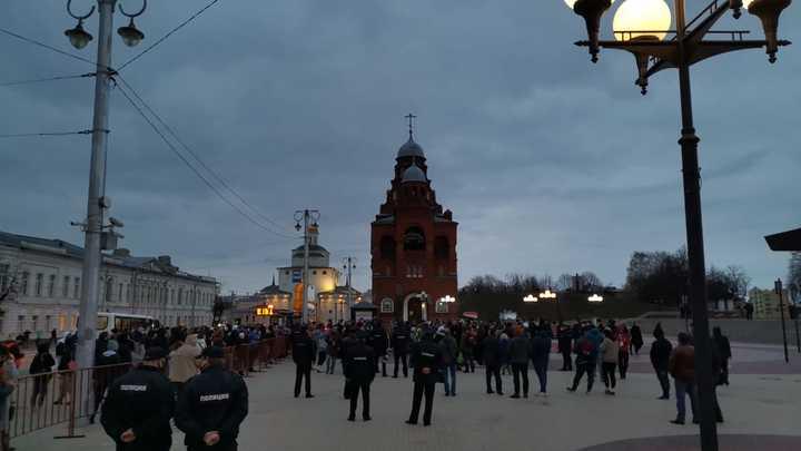 На несанкционированном митинге во Владимире задержали 4 человек