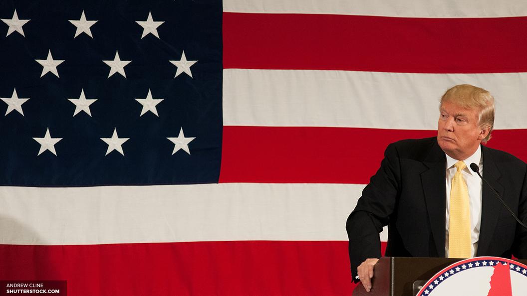 Трампа забросали российскими флагами при словах о великой Америке