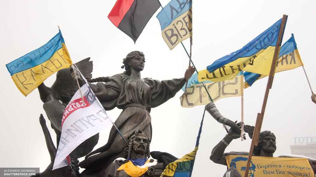 В Киеве идет митинг за прекращение торговли с Донбассом
