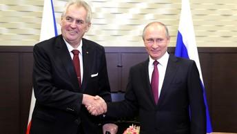 Путин пообещал президенту Чехии и пиво, и йогурт