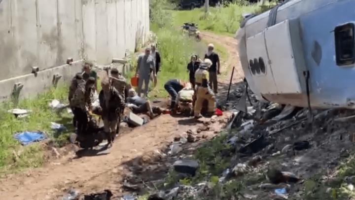 На Кубани к месту ДТП с туристическим автобусом направлен вертолет санавиации