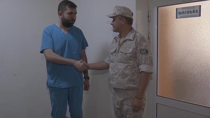 Миротворцы России доставили гуманитарную помощь в детскую больницу Карабаха