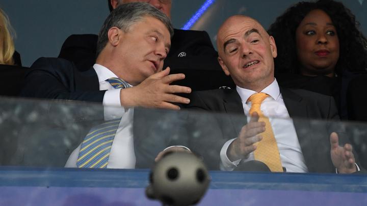 Выбежавший на поле Порошенко помешал забить четвертый гол: Лидера хунты высмеяли после матча Реал - Ливерпуль