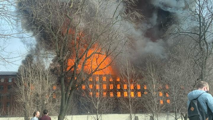 Новая версия пожара на Невской мануфактуре - поджог