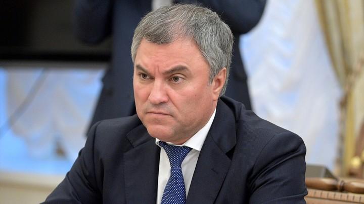 Володин: Введенные Западом санкции только усилили Россию
