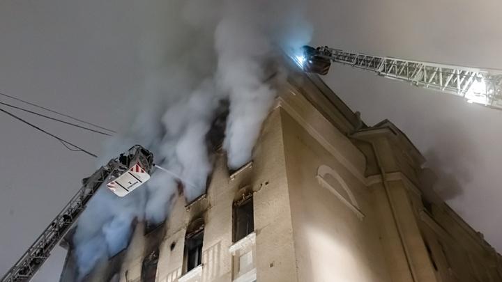 Сгоревший дом на Никитском бульваре не видел капремонта с 1986 года – источник
