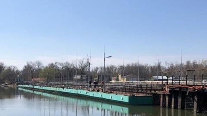 В Ростове понтонный мост на Зеленый остров откроют к майским выходным